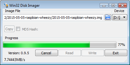 Win32 Disk Imager 3