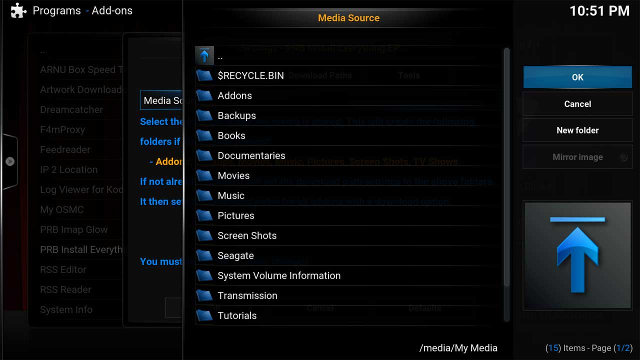 PRB Install All Media Source Browse2