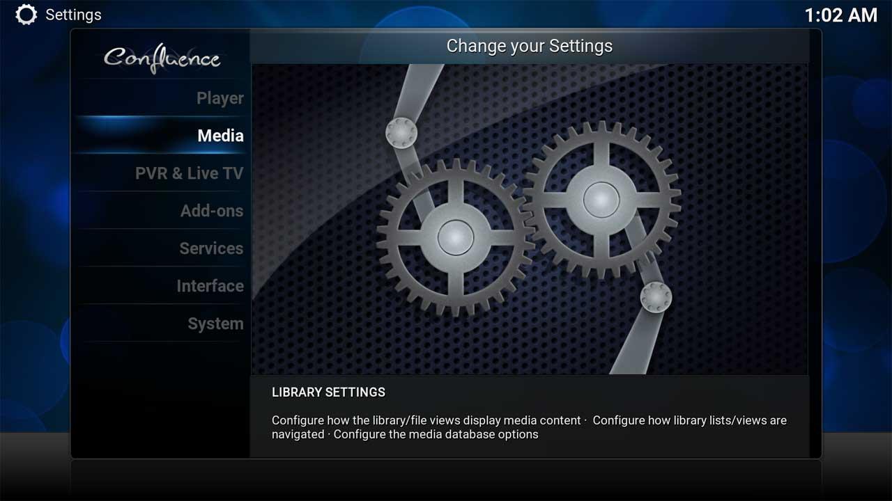 System Setting Media Menu